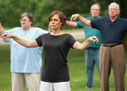 Susan Delanko, Registered Kinesiotherapist, VA Pittsburgh Health Care System instructs tai chi with her patients.
