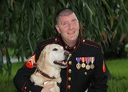 Blinded Veteran Michael Jernigan and his Guide Dog Brittani